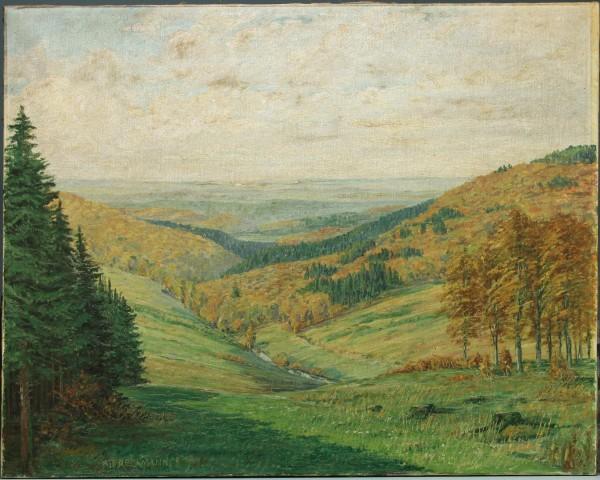 Ölgemälde HARZLANDSCHAFT von August Freckmann (1880–1952)