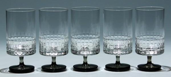 5 Friedrich Glas Kelchgläser 1960er Jahre - 13,4 cm