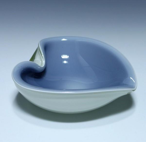 Herzförmiger Murano Sommerso Glas Ascher Ø 14,5 cm