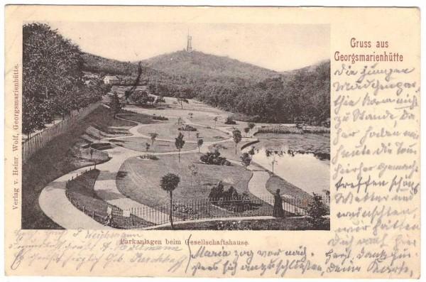 Ansichtskarte GEORGSMARIENHÜTTE - gelaufen #ak0048