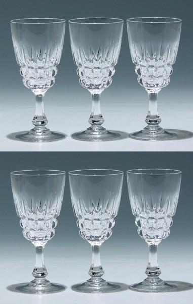 6 Cristal d`Arques Kelchgläser POMPADOUR 13,5 cm