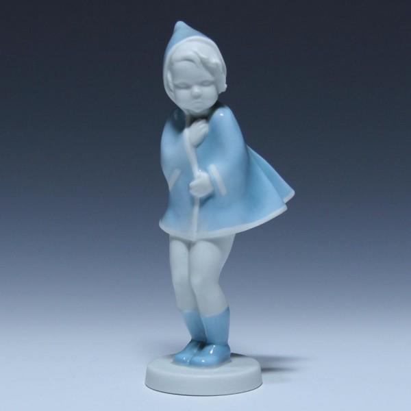 Metzler & Ortloff Porzellanfigur MÄDCHEN IM WIND Entwurf Claire Weiss