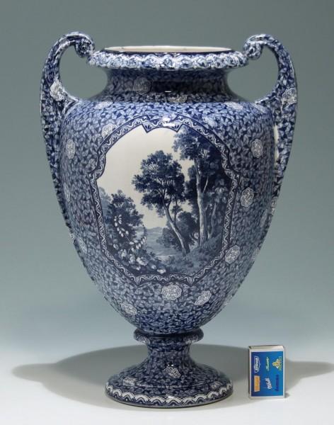 Villeroy&Boch BONN Keramikvase Dekor FLAMAND circa 1920