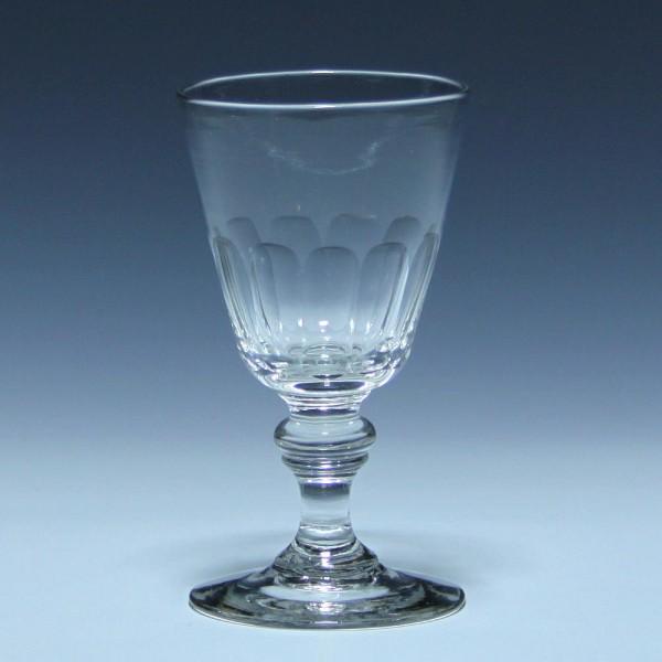 Weinglas mit Schälschliff - 19. Jh. - 12,8 cm