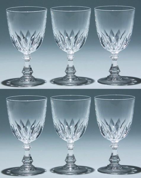 6 Cristal d`Arques Kelchgläser LUXEMBOURG 13,5 cm