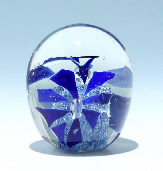 Paperweight mit zwei blauen Blüten - 711 Gramm