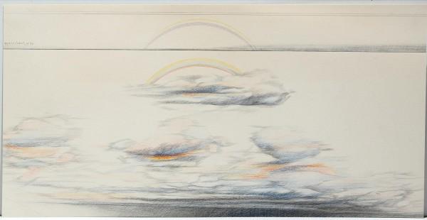 Tarek Marestani (*1940) - Buntstiftzeichnung, datiert 1976