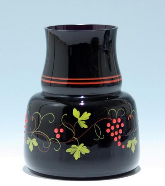 Vase mit Emaildekor Ilmenau 1950er Jahre