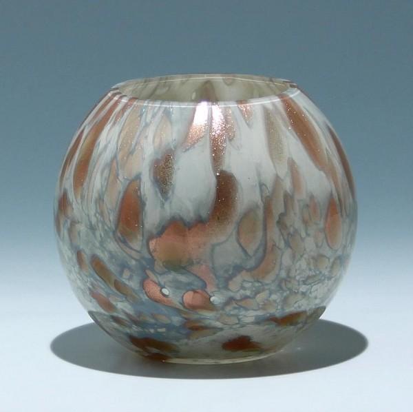 Mundgeblasene Vase mit Kupferaventurin - 1970er Jahre