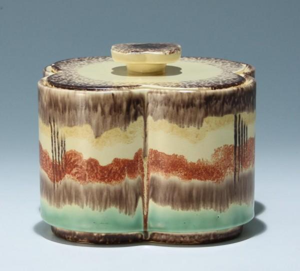Art Deco Keramikdose 1930er Jahre