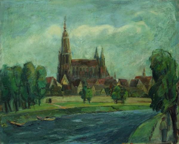 Arthur Kittinger (*1917) Ölgemälde ULMER MÜSTER signiert 1951