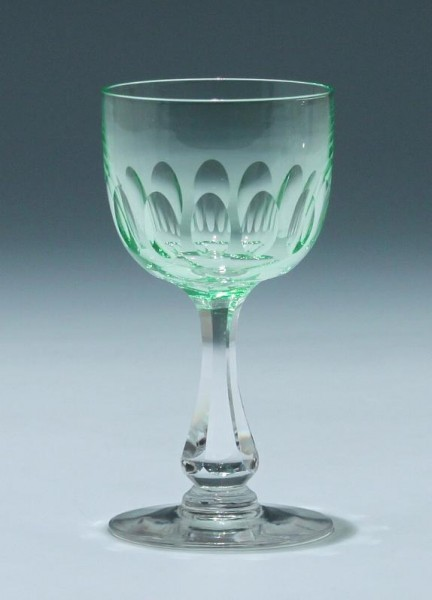 Bleikristall Uranglas Frankreich circa 1900 - Höhe 12,3 cm