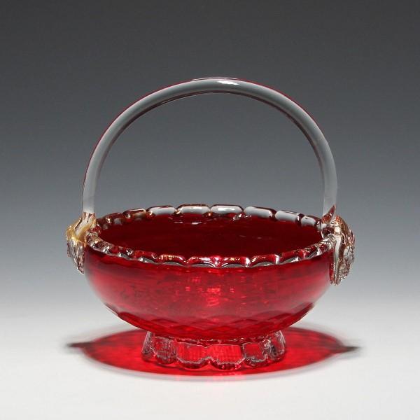 Murano Glas Henkelkorb 1960er Jahre-Copy