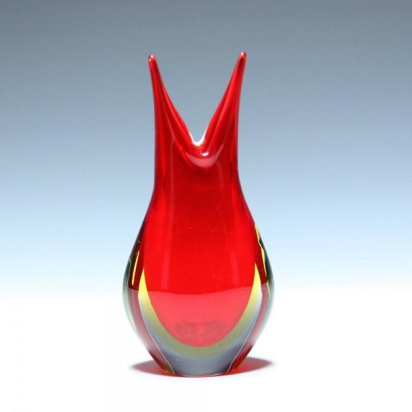 Seguso Vetri d'Arte Sommerso Glass Vase - 18,7 cm