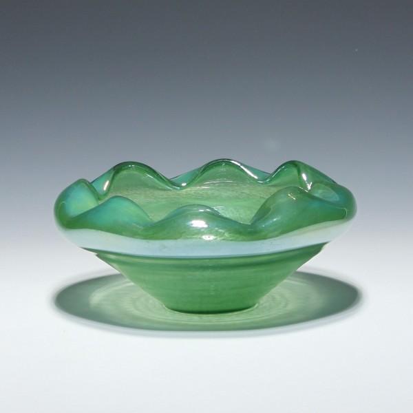 Moderne irisierende Glasschale - 1980/90er Jahre