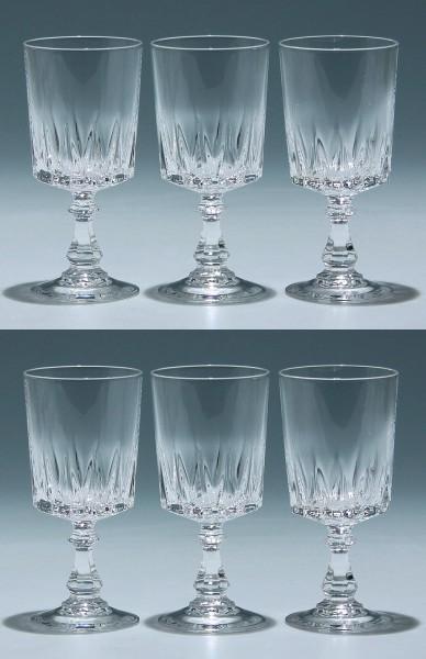 6 Cristal d`Arques Kelchgläser LOUVRE 13,7 cm