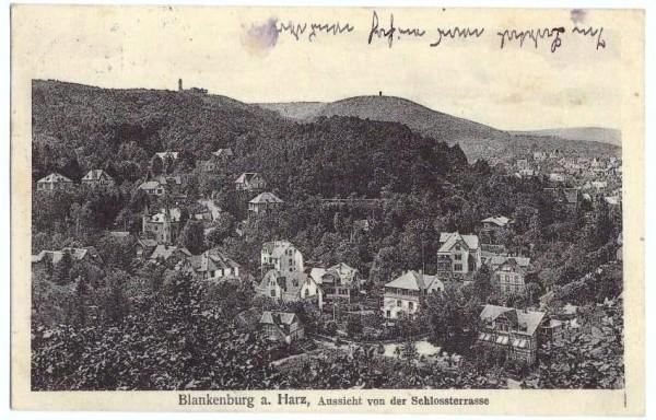 Ansichtskarte BLANKENBURG a. HARZ - gelaufen 1912