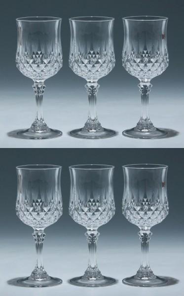 6 Cristal d`Arques Weingläser LONGCHAMP 16,5 cm