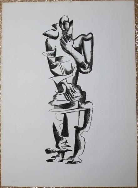Ossip Zadkine (1890-1967) - Erker Presse, Große Lithografie 76 x 55 cm