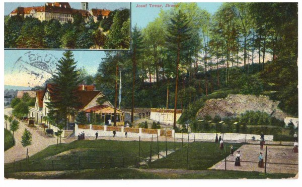 Ansichtskarte IBURG Hotel Felsenkeller - gelaufen 1911 #ak0003
