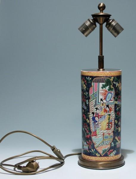 Chinese Bencharong Vase Desk Lamp - 20th Century