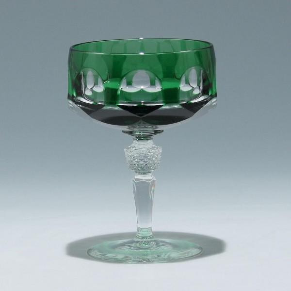Nachtmann Bleikristall Sektschale ANTIKA - smaragd