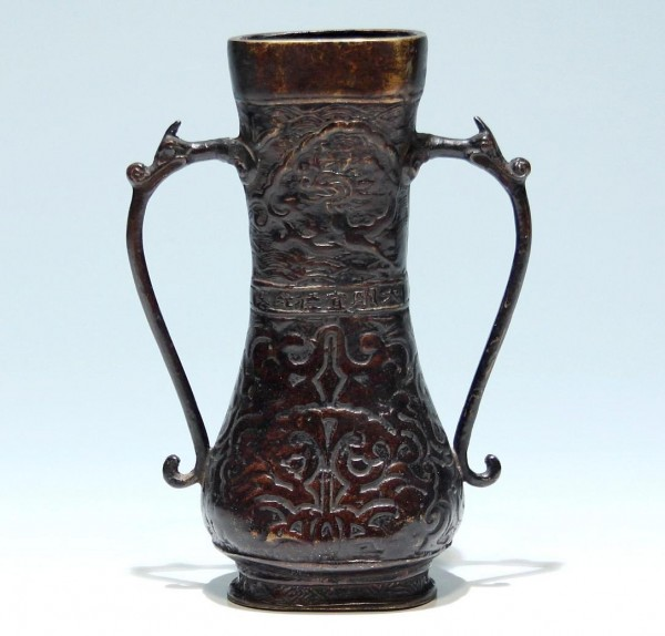 Chinese Bronze Vase with Xuande Mark - 20th. C.