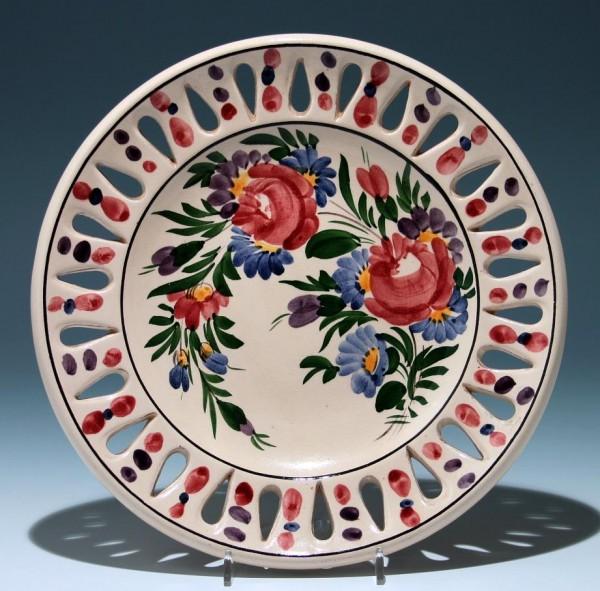 Handbemalter Keramik Wandteller