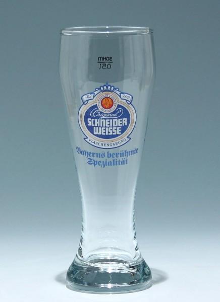 Weizenbierglas SCHNEIDER WEISSE 0,5 L.