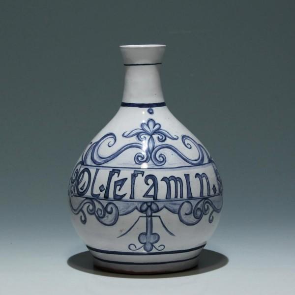 Handpainted Pottery Vase OL. SESAMIN. - Made in Portugal