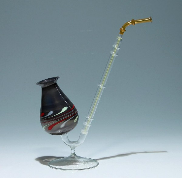 Lampenglas Pfeife Lauscha 1960-80er Jahre - Höhe circa 25 cm
