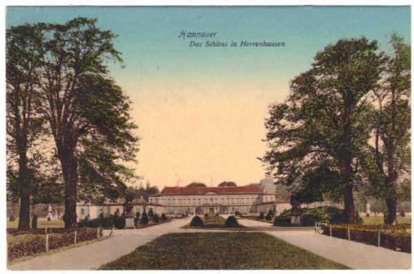 AK - Hannover SCHLOSS HERRENHAUSEN - gelaufen 1907