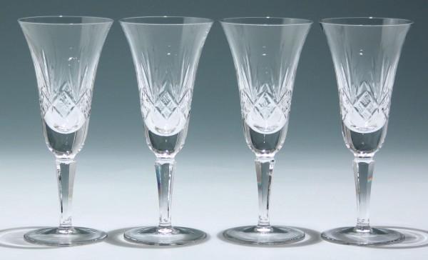 4 Bleikristall Sektgläser 1960er Jahre - 17,9 cm