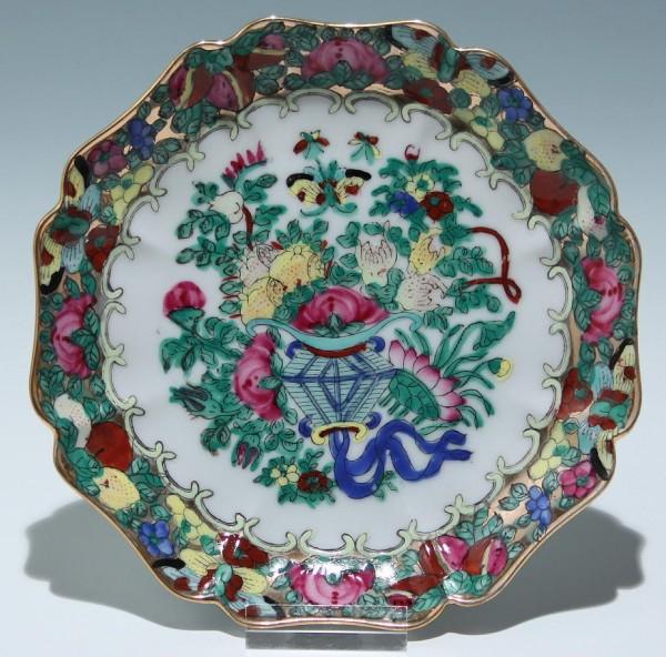Chinese Famille Verte Porcelain Plate Ø 16 cm