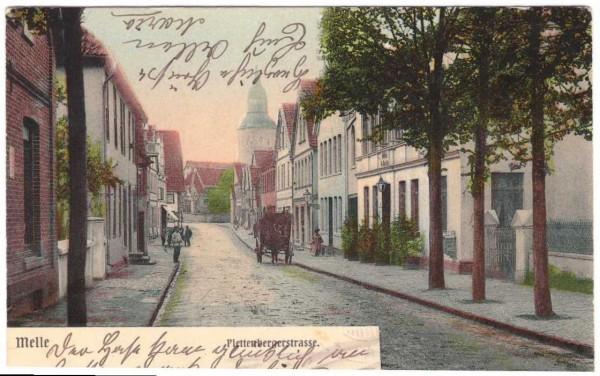 Ansichtskarte MELLE - PLETTENBERGERSTRASSE - gelaufen 1904 #ak0072