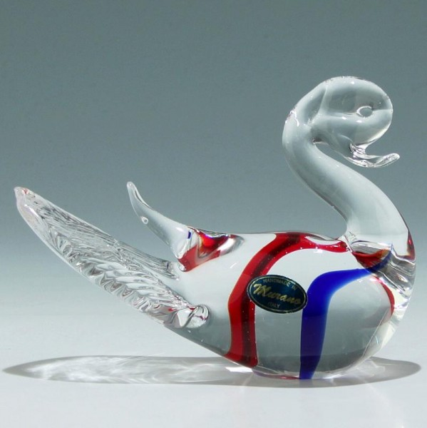 Murano Glas Ente - 1970er Jahre