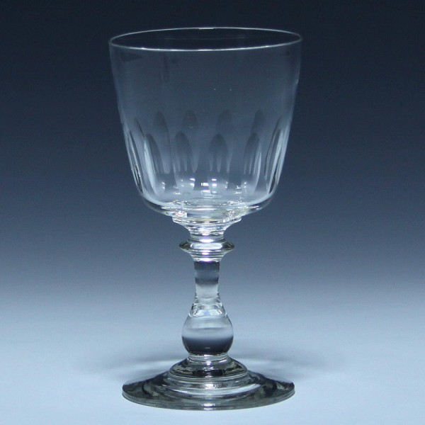 Weinglas MATHILDE mit Schliff um 1900 - 12,9 cm
