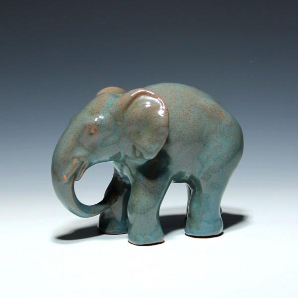 Keramik Elefant kleine Glasurbestoßung-Copy