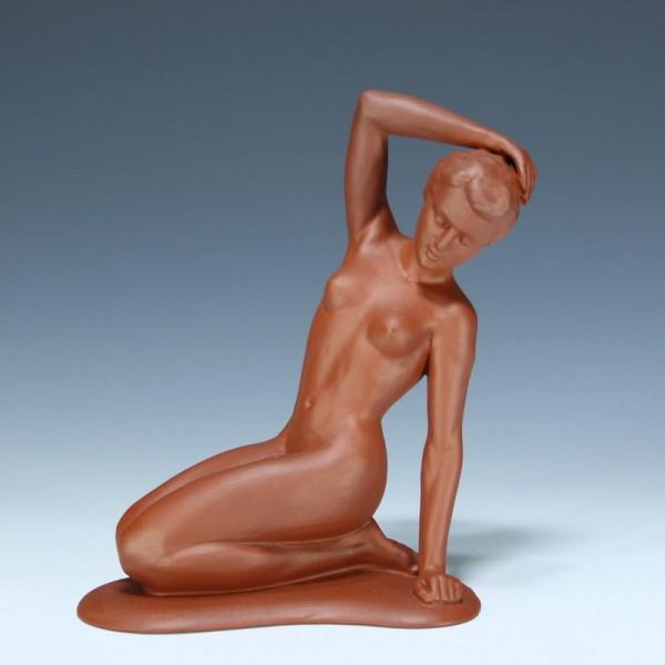 Mitterteich Keramikfigur Frauenakt 1950er Jahre - 18,4 cm