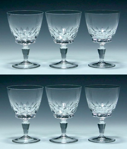 6 Spiegelau Kelchgläser PALERMO 1960er Jahre - 12,4 cm