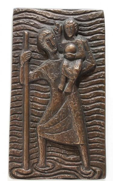 Bronzewandplatte HL. CHRISTOPHERUS - 1950/60er Jahre