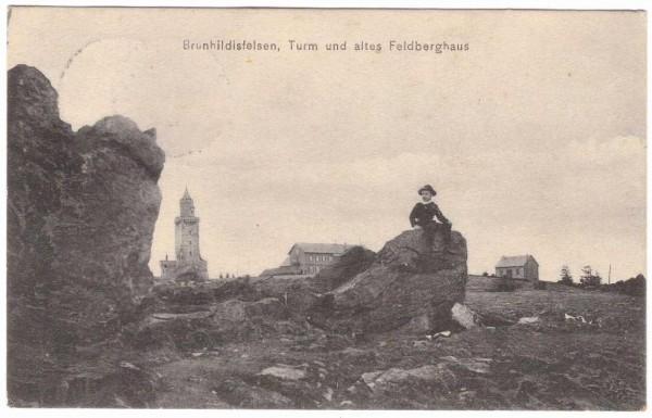 Ansichtskarte BRUNHILDISFELSEN FELDBERGHAUS - gelaufen 1908