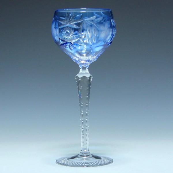 Nachtmann Bleikristall Römer TRAUBE - aquamarinblau