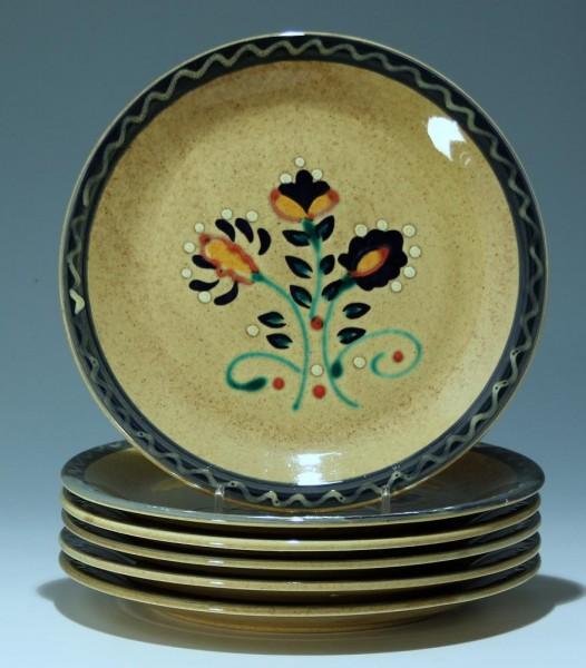 6 Keramik Teller JULISKA - Zell am Harmersbach