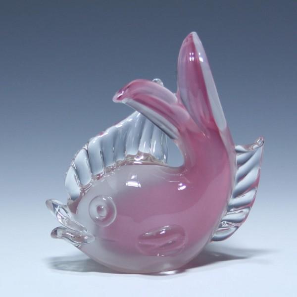 Archimede Seguso Glas Fisch - Murano 1960er Jahre