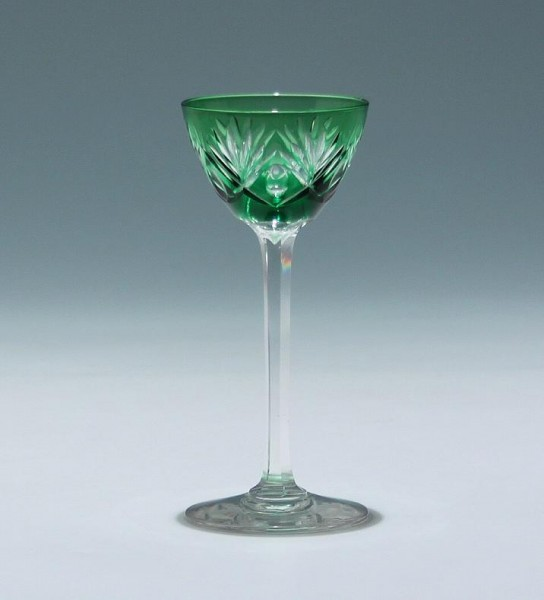 Bleikristall Überfangglas Likörglas Mitte 20. Jh.