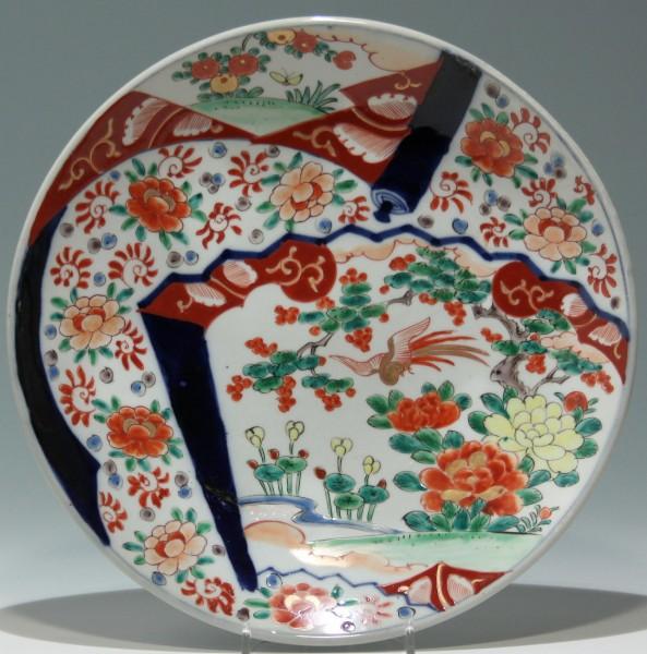 Handpainted Japanese Porcelain Plate - 20th. C. - Ø 31 cm