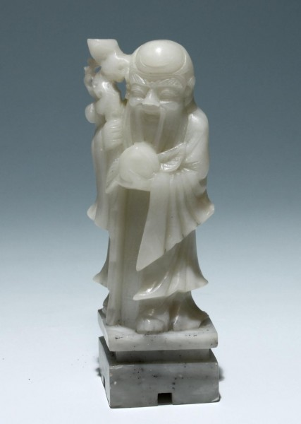 Chinese Carved Soapstone Lohan Figure - 20th C.