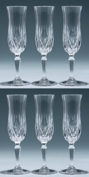 6 Cristal d`Arques Sektgläser Form???