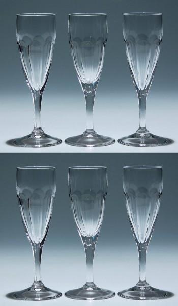6 Peill Bleikristall Sektgläser ATLANTIS-Copy